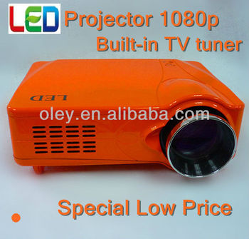 low price projector 1080p built-in TV tuner, CE Mark