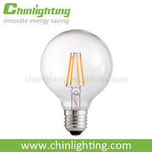 CE, EMC, LVD, RoHS certification and led light source G80 6W LED filament bulb for 2014 new products