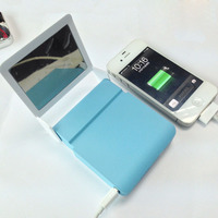 Hot selling mirror portable mobile power bank 7800mah