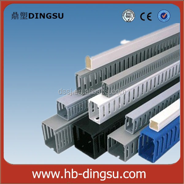 Halogen Free Solid PVC Cable Raceway /Duct/Trunking
