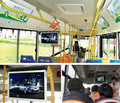 "Metal casing 24"" Inch metro coach bus vehicle TFT display with roof wall mounting bracket"