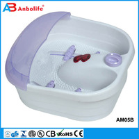 Anbolife All in one w/ motorized rolling massage heat wave O2 bubbles water fall digital temperature control foot spa massager