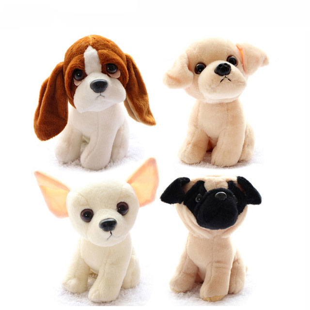 Simulation dog plush toy 16cm Husky /Shepherd dog/ Belldog / Chihuahua / Schnauzer / Labrador Soft Stuffed dolls Kids toys