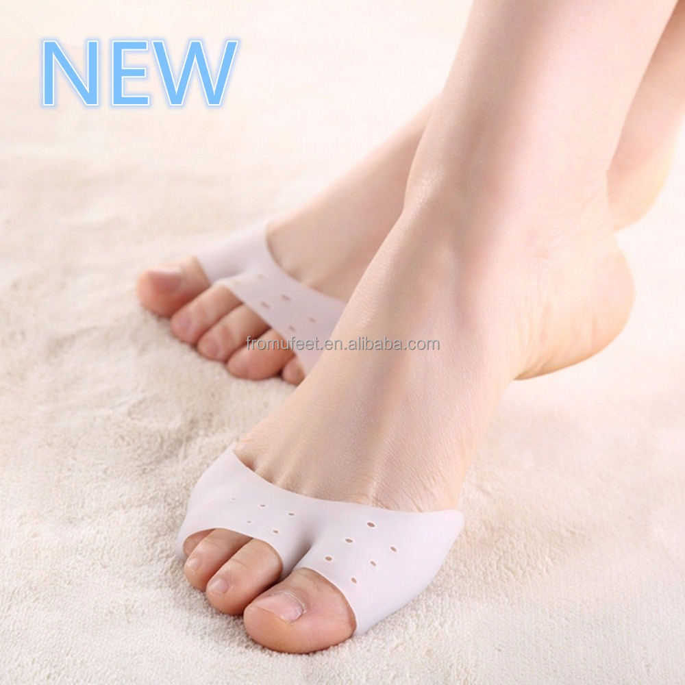 ZRWC40 Half-toe Holes Silicone Toe Sleeve Metatarsal Pad for toe Protective Care Orthopedic Massager foot care