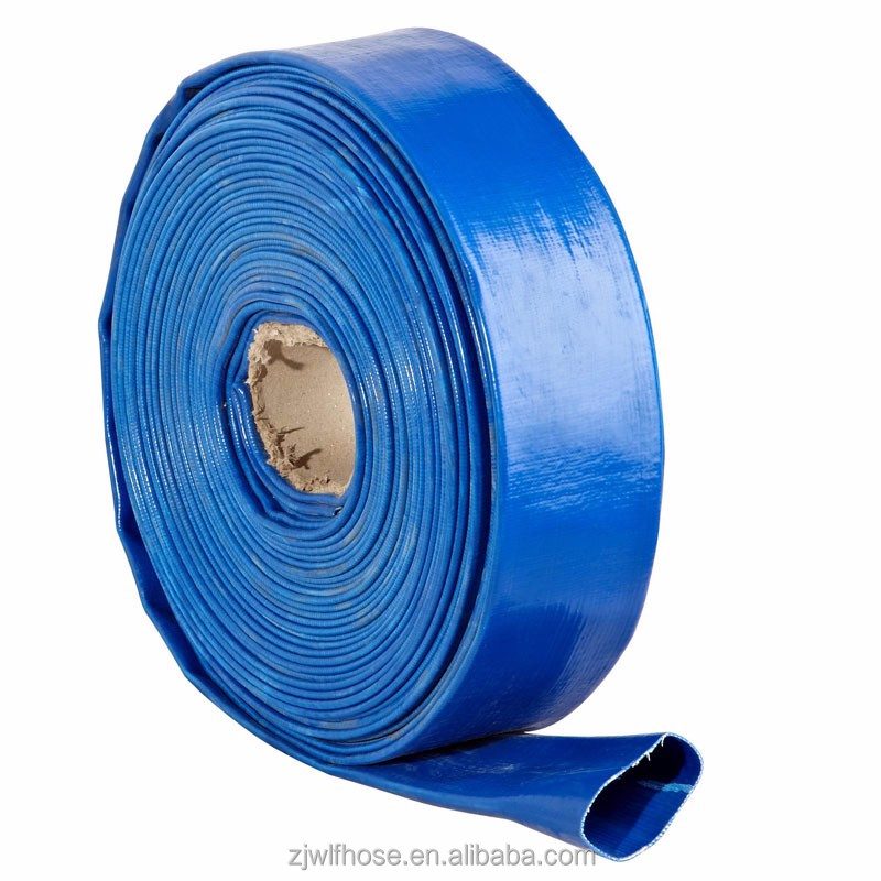 high quality blue 3bar PVC delivery irrigation hose water pipe