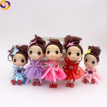 2018 Wholesale 12cm Wedding dress hot girls doll key chain