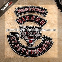 custom private new fashion design embroidery motorcycle badge for sport wear