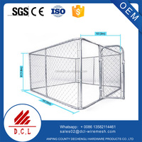 4X2.3X1.8m Heavy Duty Dog Crate,Large Metal Strong Dog Kennel Cage