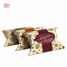 Best quality custom packaging paper apple pie pillow box