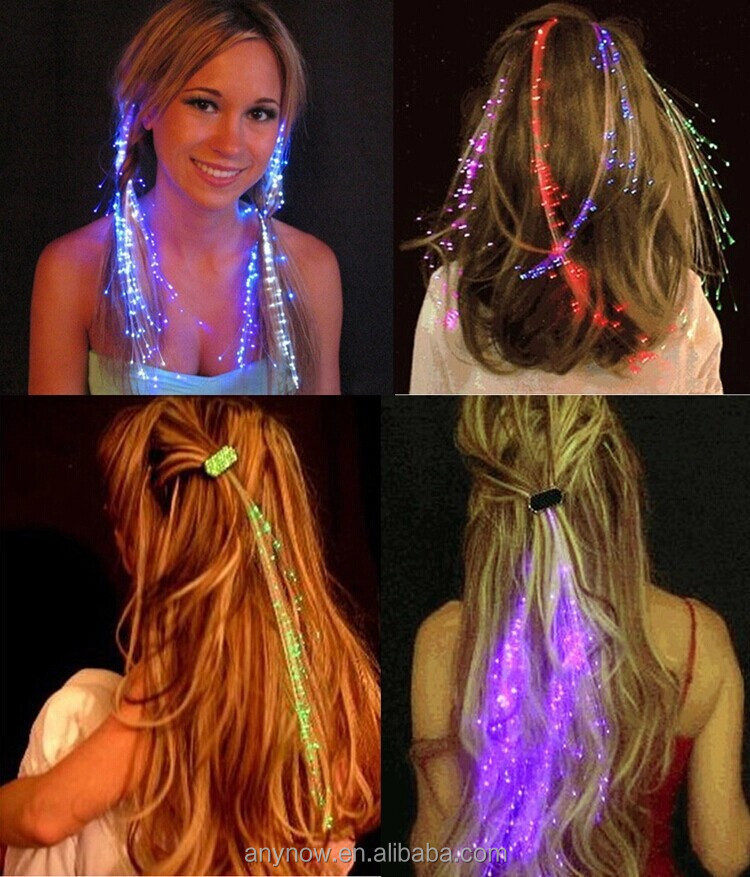 Hair Accessories Beautiful 7 colour irradiative hair with LED