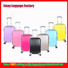 China supplier Colorful trolley abs luggage bags with hard abs trolley case