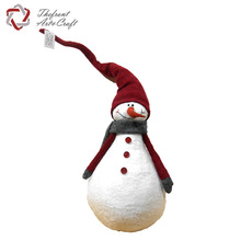 High quality handmade statue fabric christmas snowman decorations