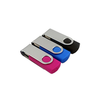 Colorful fashion customized logo Swivel Metal flas drive free gift sample in usb flash