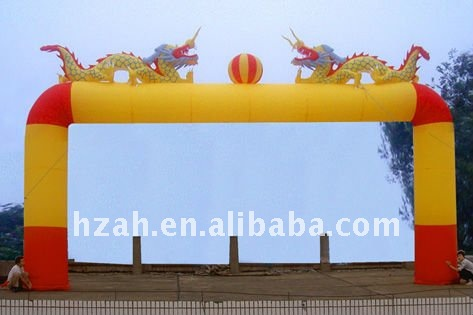square inflatable arch with Chinese Dragon