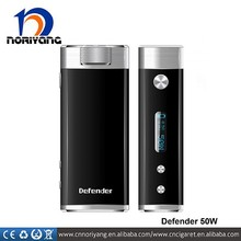 hot new products for 2015 defender vv vw ecig mod/ box mod 50w defender 18650 mod