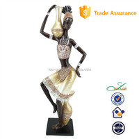 Dancing african lady art and craft