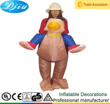 DJ-CO-121 fast ship Adult Funny Inflatable Humorous Ostrich Bird Costume jumpsuit