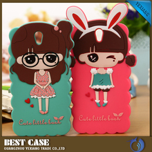 new arrival 3D silicon back cover cute design case for oppo find 5 mini r827