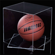 2015 Good Quality Clear Acrylic Cube Basketball Storage Boxes / Racks/thickness 3mm 14*14*14 Inch acrylic box