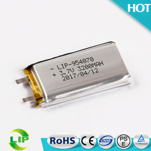 954070 3200mah li-polymer 3.7v Rechargeable Lithium Ploymer Battery