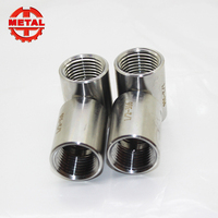 wholesale stainless steel butted welding pipe fitting clamp tee