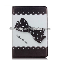 FL3245 Guangzhou 2013 hot selling cute cartoon stand wallet leather folio case for apple ipad air case