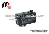 15A 250VAC micro switch with lever , ul tuv approval low operating force micro switch