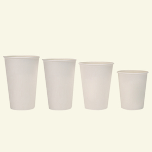 Amazon Hot Sales Wholesale 8/12/16/20 Oz Custom Logo Printed Single Wall White Disposable Coffee Paper Cups With Lids