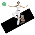 2018 Sublimation CMYK color printed rubber mats for gym folding softtextile exercise mat