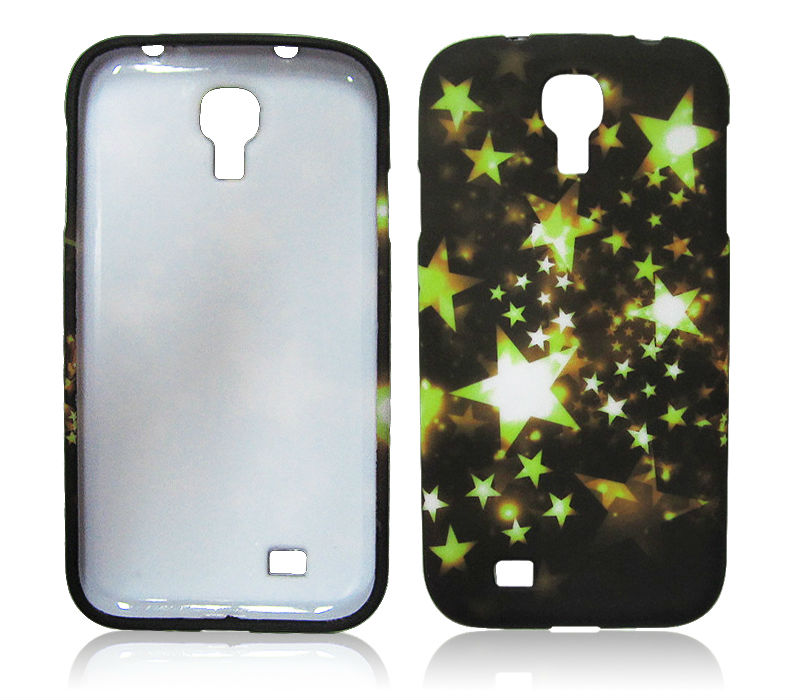 Black Gel TPU Case for Samsung Galaxy S4 i9500 Star Design Gel Case