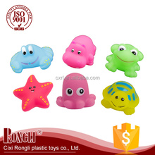 PVC material sea squirters floating baby bath toy