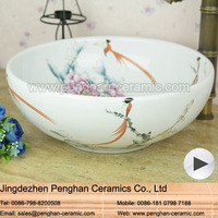 China factory direct hand painted famille rose ceramic Portable Wash Basin