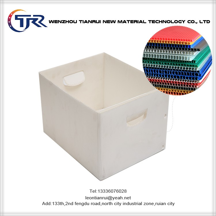 Sealed Edges Available Anti Static Clear Plastic Handles Corrugated Boxes