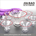 7pcs Ice Cream Bowls Set with Top Rim Color Spray TZ7-GB16013/DS-P
