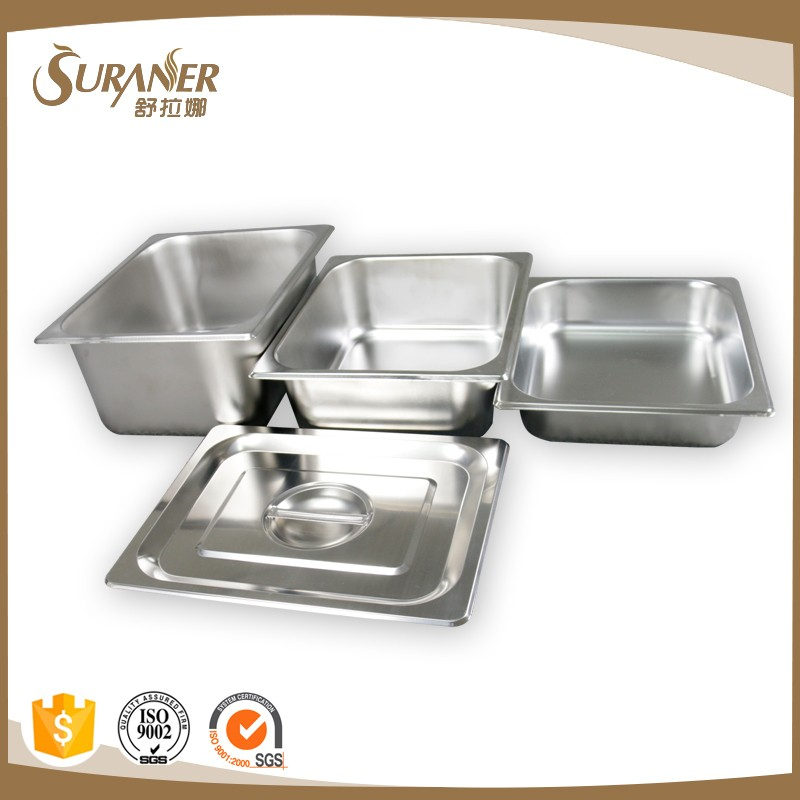 Stainless Steel Regular Food Container 1/2Gn Pan Resturant Equipment Gn Container Catering Food and Ice Cream Pan
