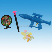 Plastic Target shooting Gun Toy with Candy