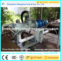 Diary farm organic manure dewatering processing equipment/Cow dung liquid solid separator