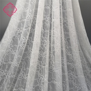 Hot selling Elastic nylon spandex Jacquard textile lace fabric