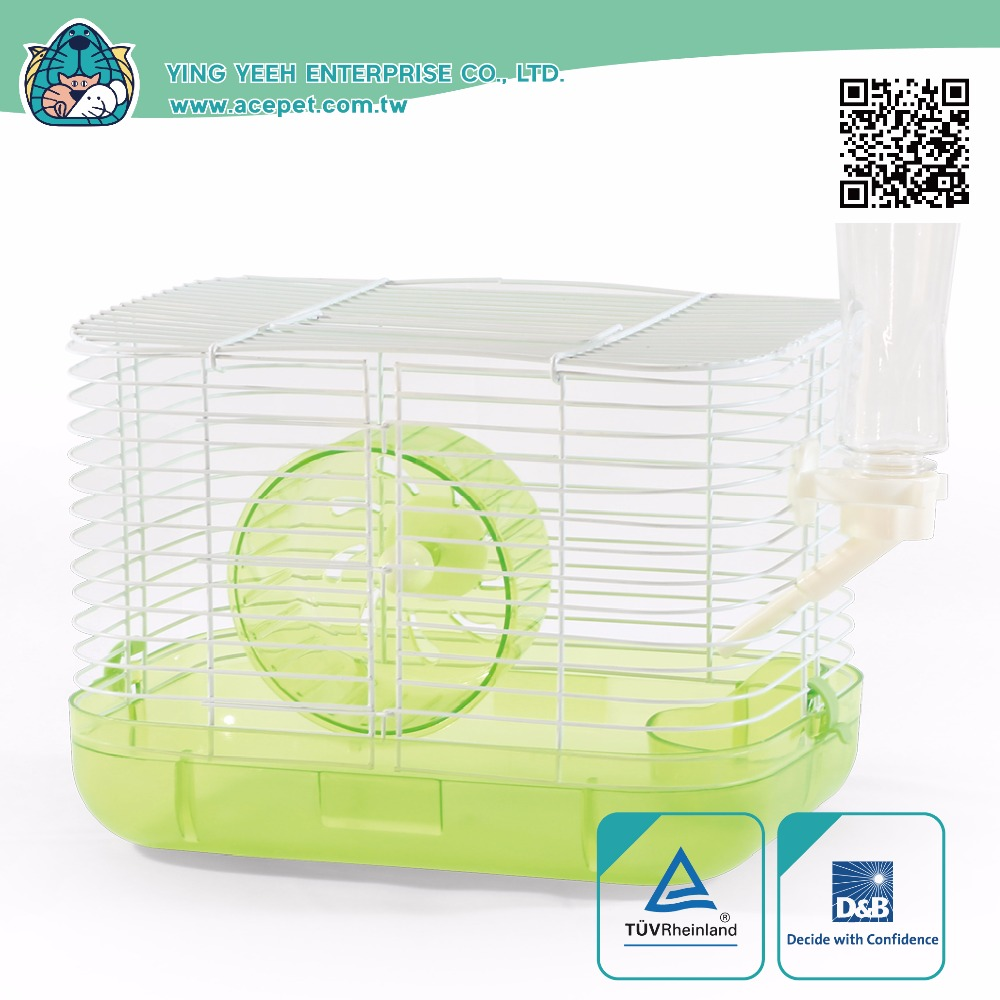 new premium iron Wire plastic body small animal hamster cage Equipped with 11.5cm rolling wheel