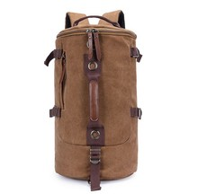 wholesale travel outdoor man bag hiking drum canvas rucksack backpack
