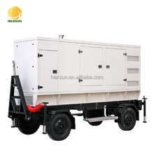 Hot selling !!! 20KVA--500KVA two four wheels mobile generator for construction