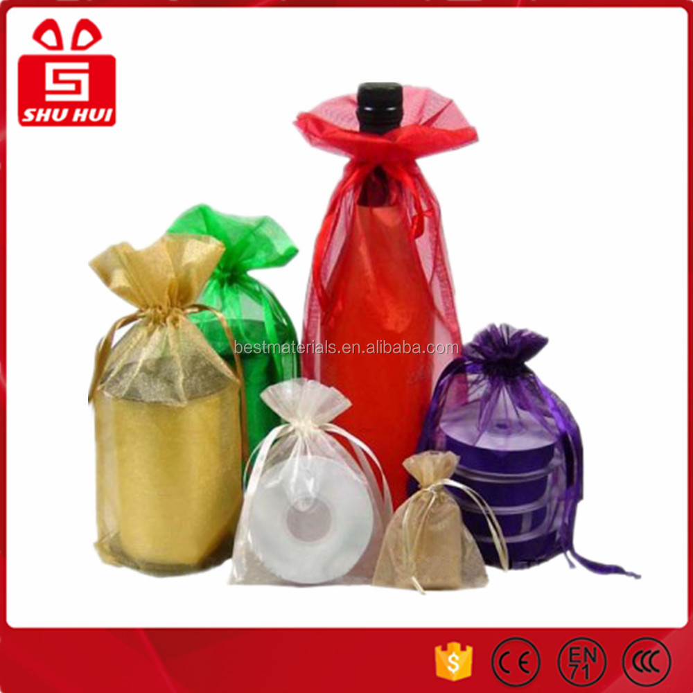 Mesh bag cheap promotional organza small drawstring mesh bag dk-la367 tulle gift bag