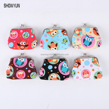 Colorful Owl Print Hasp Coin Purse 2016 Fashion Small Style Women Lipstick Handbag Child Gift Change Purse Coin Bag Coin Wallet