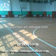 pvc plastic floor for indoor/outdoor basketball court material