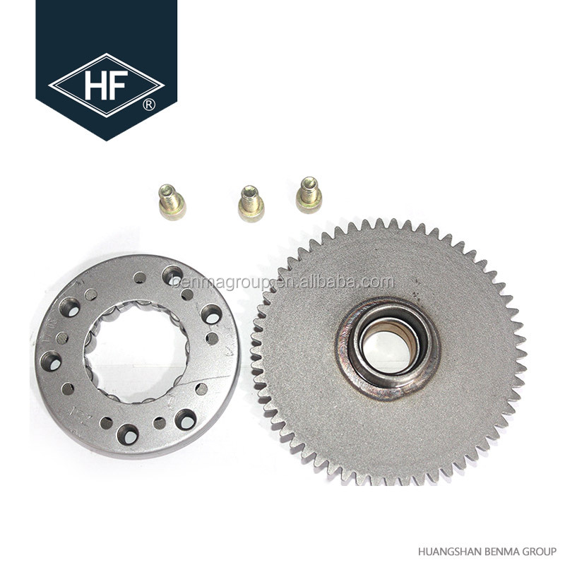 CG200 tricycle tuk tuk over running clutch assy starter clutch gear
