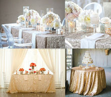 Fancy Wedding Metallic Sequin Table Cloth