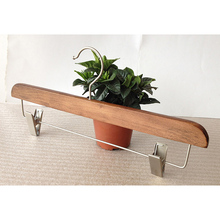 Mens Cherry Wooden Pant Hanger with Swivel Hook