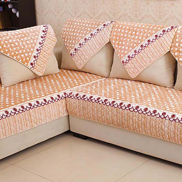 Large cheap custom printed leather sofa armrest cover