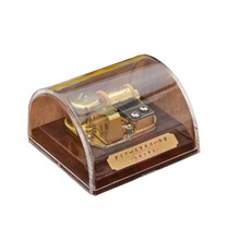Transparent Premium Gift/souvenir Acrylic Music Box Dome Box with Stop Button Musical Toys Tune
