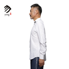 Urban Nobles Chinese Embroiderey 100%Cotton Shirt For Men Cotton